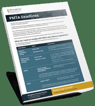 Booklet - PMTA Deadlines