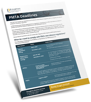 Booklet - PMTA Deadlines